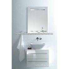 Nuevo gabinete de baño blanco brillante / mueble de pared blanco de vanidad