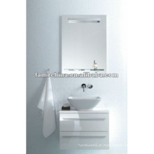 Novo armário de banheiro branco brilhante / armário de parede branco de vaidade