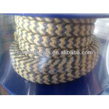 Sunwell grafite PTFE e fibra de aramida em zebra trançado embalagem