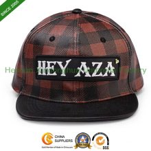 2015 Hot Sale Custom Design Baseball Cap with Checks (CAP-001PU)