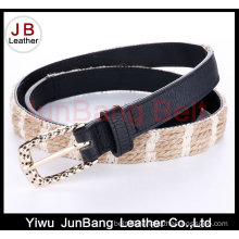 Hot Sell Ladie′s PU Braid Belt