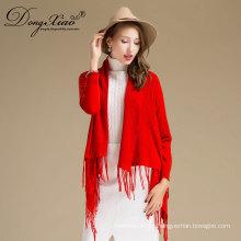 Fábrica de China bastante elegante hecho a mano 100% puro patrón Merion lana Pashmina chal