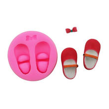 Resin Crafting Silicone Bow-Knot Doll Shoes Straw Topper Mold Bow Straw Topper Mold