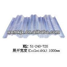 Produce la plataforma de piso de acero YX51-240-720