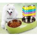 Dog Feeder Schüssel Bamboo Power Portable Katze Haustier Schüssel