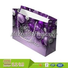 Fsc estándar Bsci fábrica de lujo de moda de regalo de Navidad decorativa empaquetado bolsas de papel hechas a mano diseños en Guangzhou