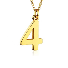 Wholesale Unisex Stainless Steel Jewelry Custom Any Number Logo Charms  Pendant Necklace