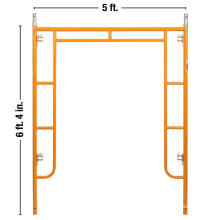 Hot selling 5' by 6'4'' H frame scaffolding with powder coated