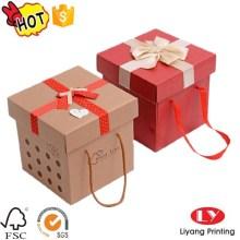 Good grade Craft cardboard box with handle