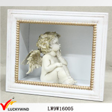 Venda Por Atacado Vintage Branco Wall Arte Shadow Box Frame