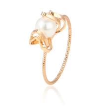 15429 xuping caliente nueva producción súper popular perla 18k accesorios anillo de dedo de oro para la joyería de las mujeres
