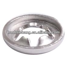 Rondelle de verrouillage en métal perforé