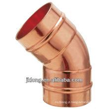 J9306 Conexão de cobre Cotovelo de cobre de 45 graus
