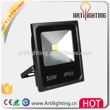 Outdoor led flood light 10w-100w 2017 new product Bridgelux Meanwell IP65 , CE, OEM/ slim led flood light black color housing