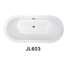 Small and Big Size Oval Shape Drop in Bathtubs with Drainage Be Used in Bathroom