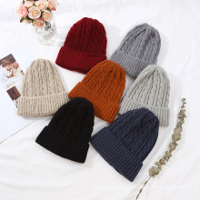 Knitted beanie hat women winter hats wholesale