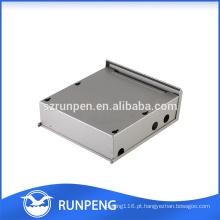 Estamparia caixa de chapa metálica, caixa estanque de alumínio
