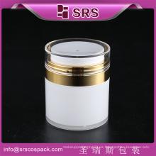 Acrilico Airless 15ml crema facial para la cara 30ml 50ml Cosmetic Jar con la bomba