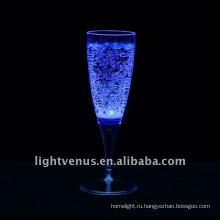 LED освещение свечение Кубок Жидкие активных питьевой стекла украшения пластиковые привело флеш шампанское стекло