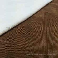 97% Polyester 3% Tissu en velours côtelé en nylon pour vêtement