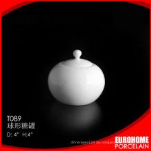 Discount-Großhandel billig China Keramik Steingut Zuckerdose