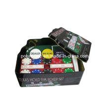 Покерный чип Texas Hold'em, установленный в жестяной коробке (SY-S37)