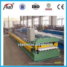 Máquina de fabricação de telhas de chapa de aço ondulado galvanizado profissional