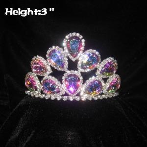 Pequeñas coronas de princesa de diamantes Mini AB