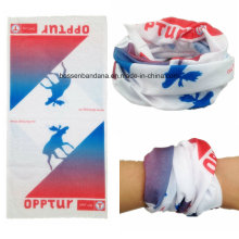 Diseño hecho a medida Poliéster impreso Multifuncional Seamless Buff Headband
