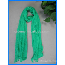 Solid color cotton pretty green scarf sale