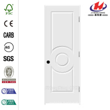 28 in. x 80 in. C3140 Primed 3-Panel Solid Core Premium Composite Single Prehung Interior Door