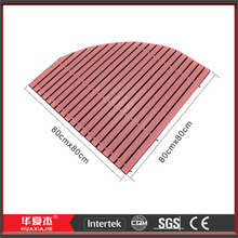 Sector Anti-slip WPC Composite Bath Floor Mat For Bathroom