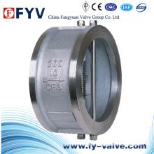 Válvula de retenção Wafer de chapa dupla de aço inoxidável