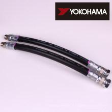 Mangueira de borracha hidráulica. Fabricado pela Yokohama Rubber Co., Ltd. (YCR) Fabricado no Japão (proteção espiral para mangueira hidráulica)