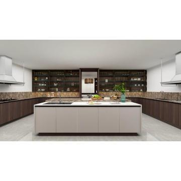 Деревянные Цветные Современные Кухонные Шкафы