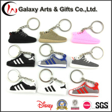 Wholesale New Products Custom Design Shoes Shape Silicon Keychain