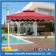 Modern Aluminum Square Patio Sun Umbrella for Outdoor Garden / Beach