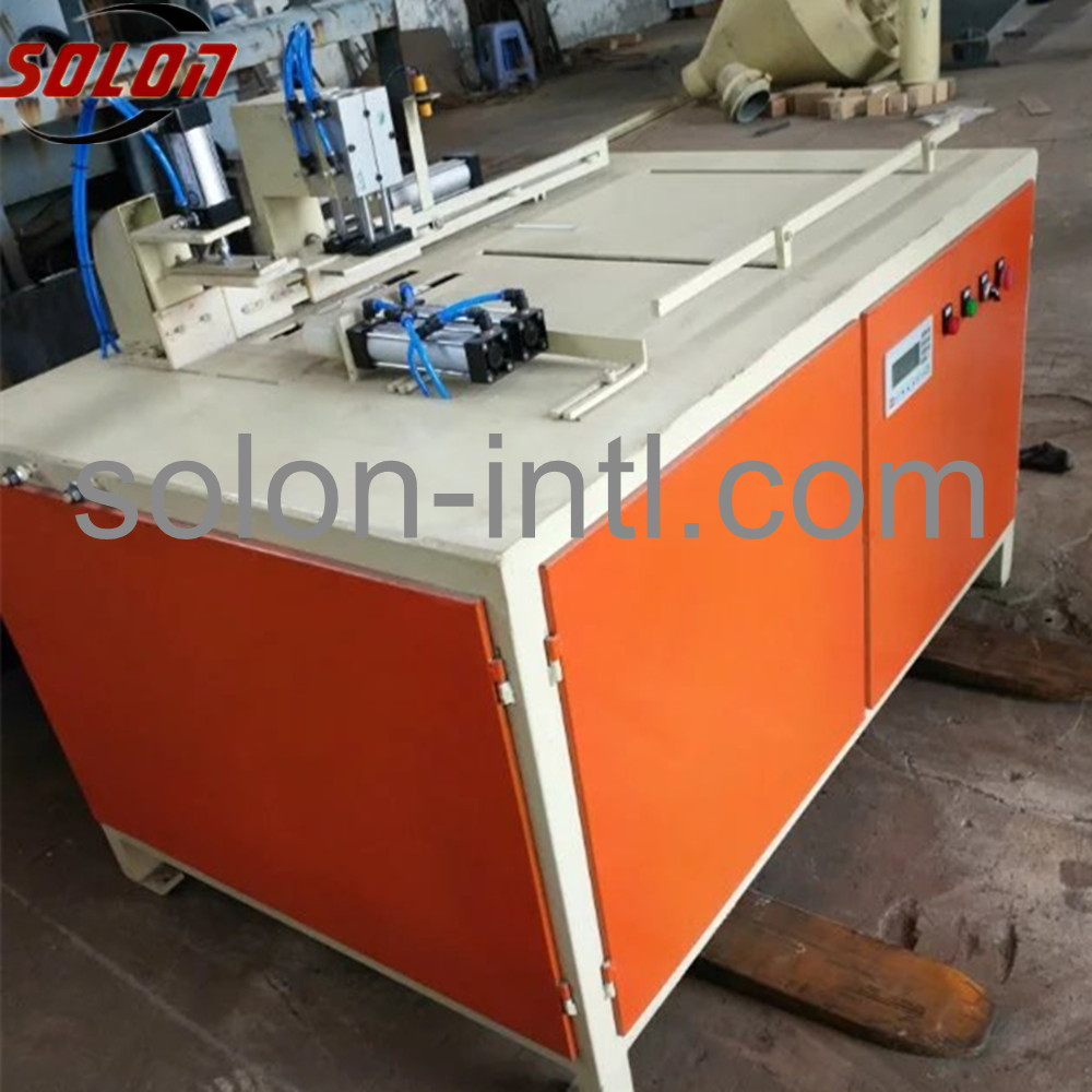 wood block cutter for wood pallet machine