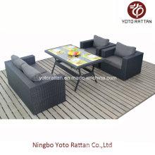 Tisch Sofa Set in schwarz für Outdoor (1307)