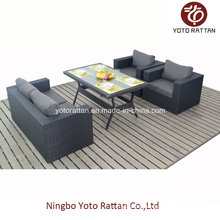 Table Sofa Set in Black for Outdoor (1307)