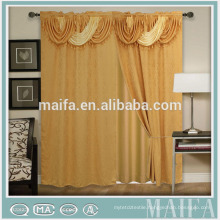 Latest Window Design 2015 Hot Sale 100% Poly New Fancy Design Curtains For Living Room