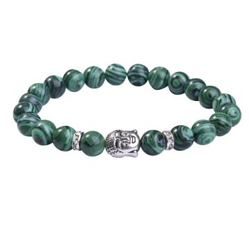 Malachite 8MM Gemstone Buddhism Prayer Beads Bracelets