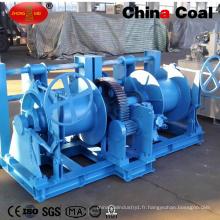 Treuil hydraulique de chalut de double tambour avec la station hydraulique