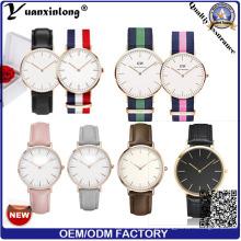 Yxl-015 Aço Inoxidável Back Case Dw Style Watch para Homens e Mulheres