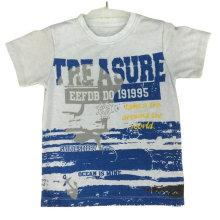 T-shirt 100% Algodão Oceano em Roupas Infantis com Impressão