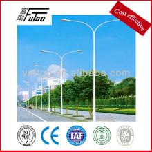 Luz de calle de doble luz para poste