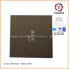 Custom Gold Blocking Tea Packaging Paper Cardboard Box