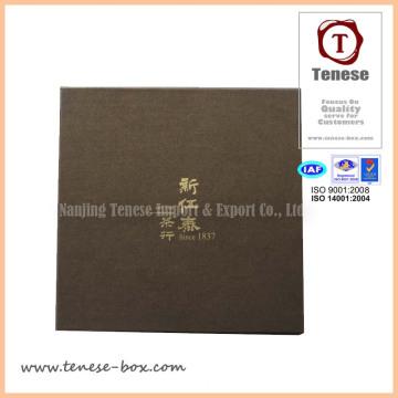 Custom Gold Blocking Tea Packaging Paper Cardboard Box