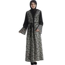 Hot vente Moyen-Orient, en Malaisie, en Indonésie, classique confortable femmes portent robe kimono ouvert avant abaya