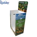Bacs de décharge de supermarché de promotion des aliments ondulés portatifs